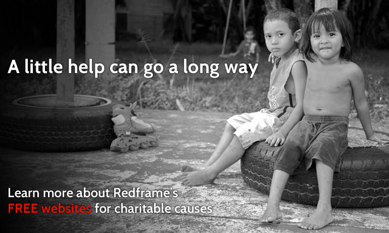 Free charity websites from Redframe