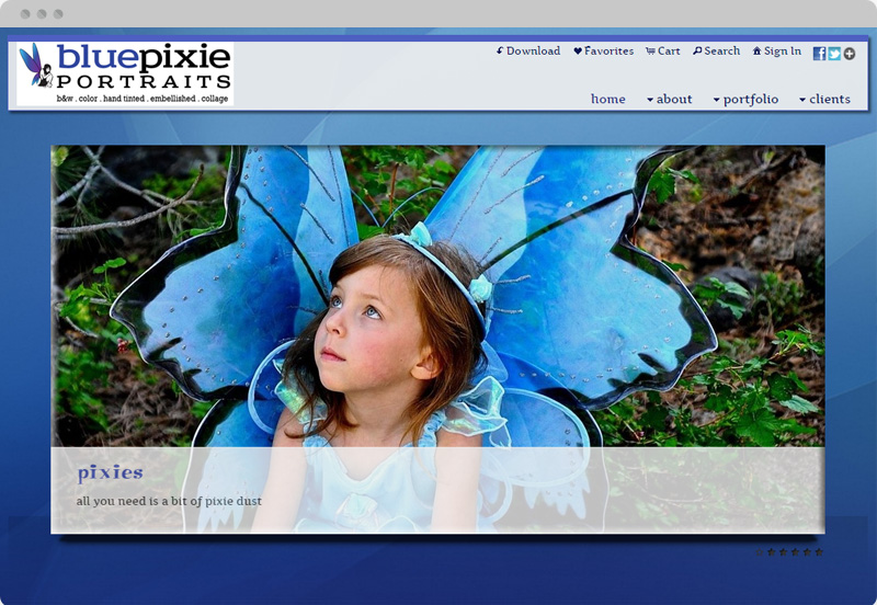 Redframe Photography Websites Client Example - Blue Pixie Photo