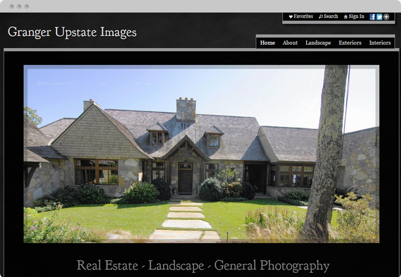 Redframe Photography Websites Client Example - Granger Upstate Images