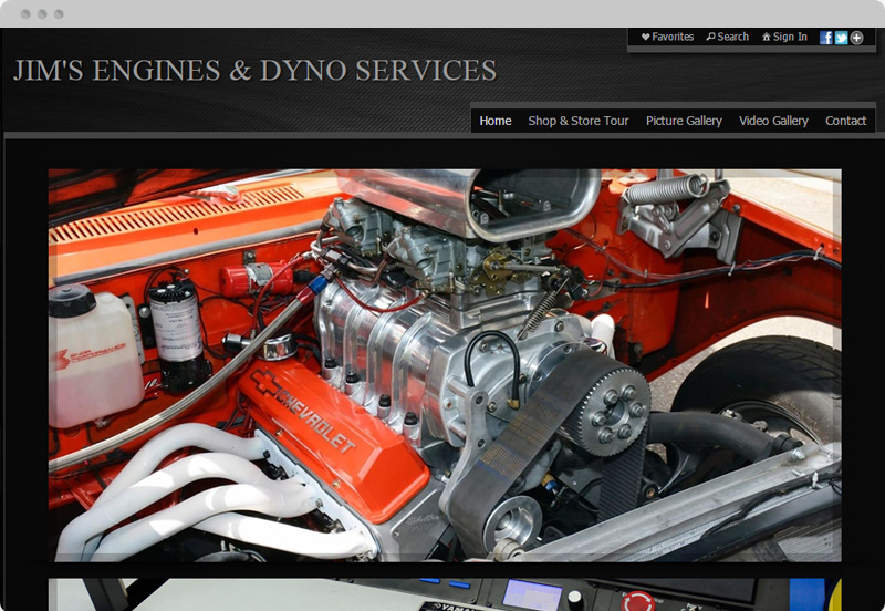 Redframe Photography Websites Client Example - Jim's Engines