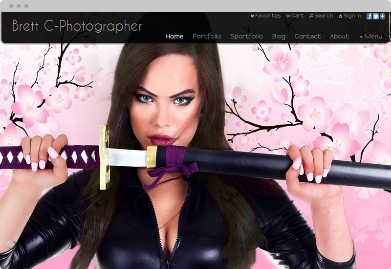 Redframe Photography Websites Client Example - Brett C Photographer