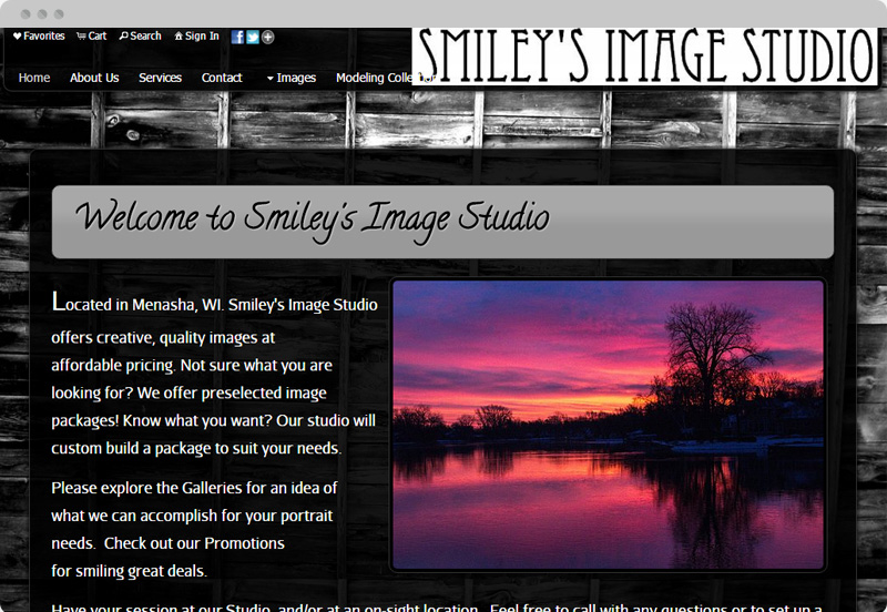 Redframe Photography Websites Client Example - Smiley's Image Studio