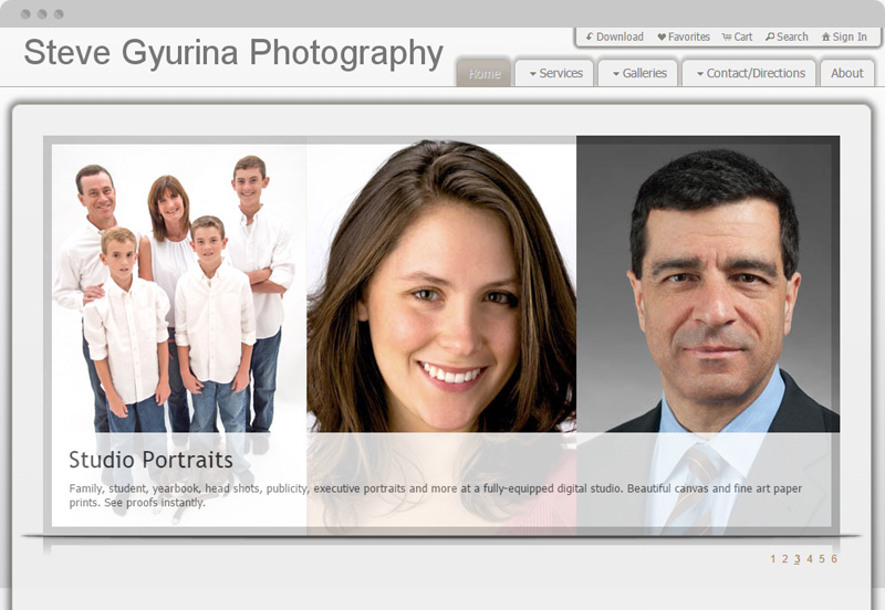 Redframe Photography Websites Client Example - Steve Gyurina Photography