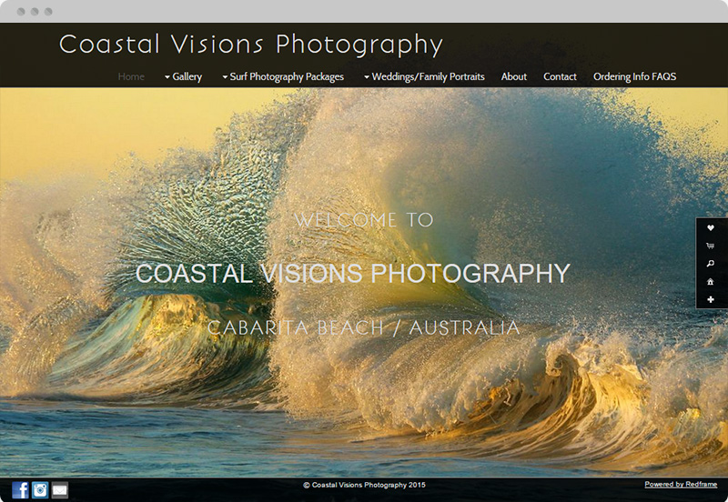 Redframe Photography Websites Client Example - Coastal Visions Photography