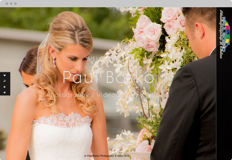 Redframe Photography Websites Client Example - Paul Bosko Photography