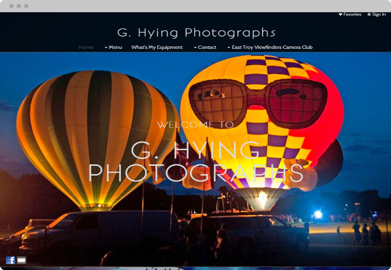 Redframe Photography Websites Client Example - Gerry Hying Photography