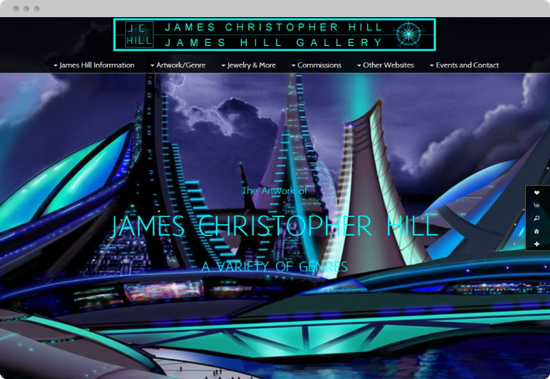 Redframe Photography Websites Client Example - James Hill Gallery