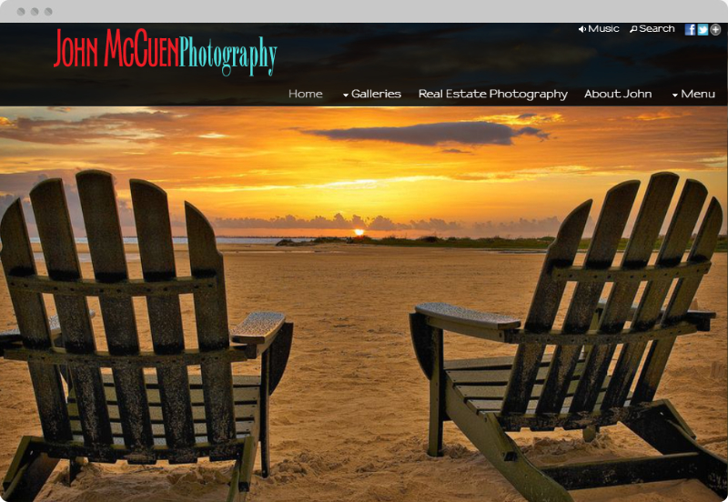 Redframe Photography Websites Client Example - John McCuen Photographs