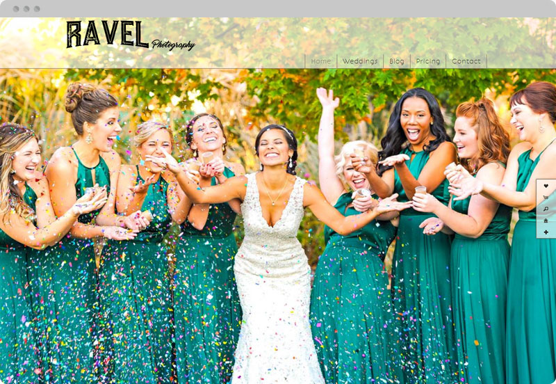Redframe Photography Websites Client Example - Ravel Photography