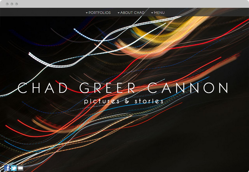 Redframe Photography Websites Client Example - I Am Chad Greer