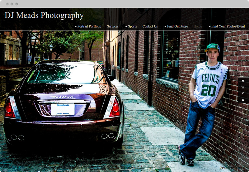 Redframe Photography Websites Client Example - DJ Meads Photography
