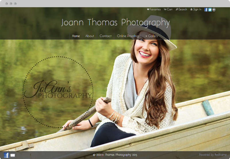 Redframe Photography Websites Client Example - JoAnn's Photography