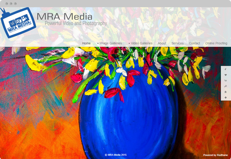 Redframe Photography Websites Client Example - MRA Media