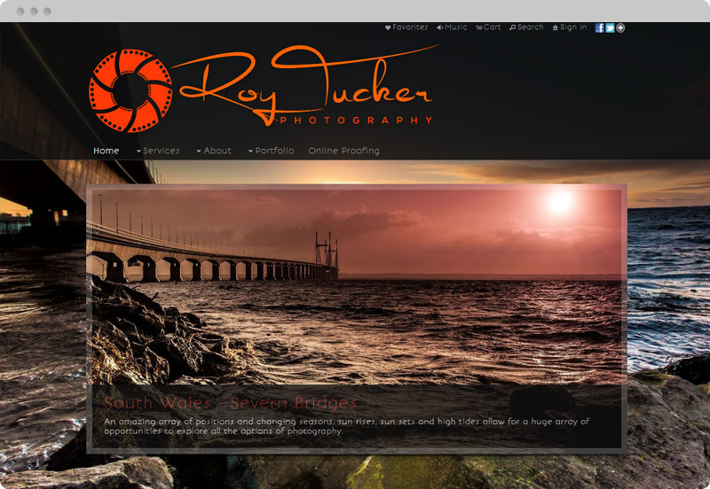 Redframe Photography Websites Client Example - Roy Tucker Photography