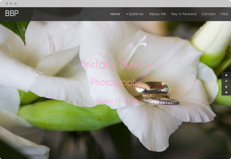 Redframe Photography Websites Client Example - Brittany Burrow Photography