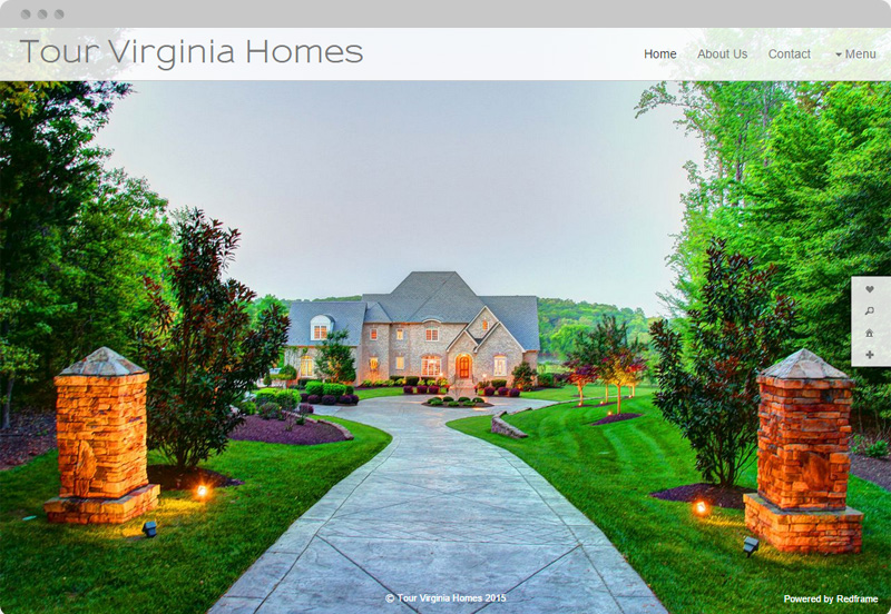 Redframe Photography Websites Client Example - Tour Virginia Homes