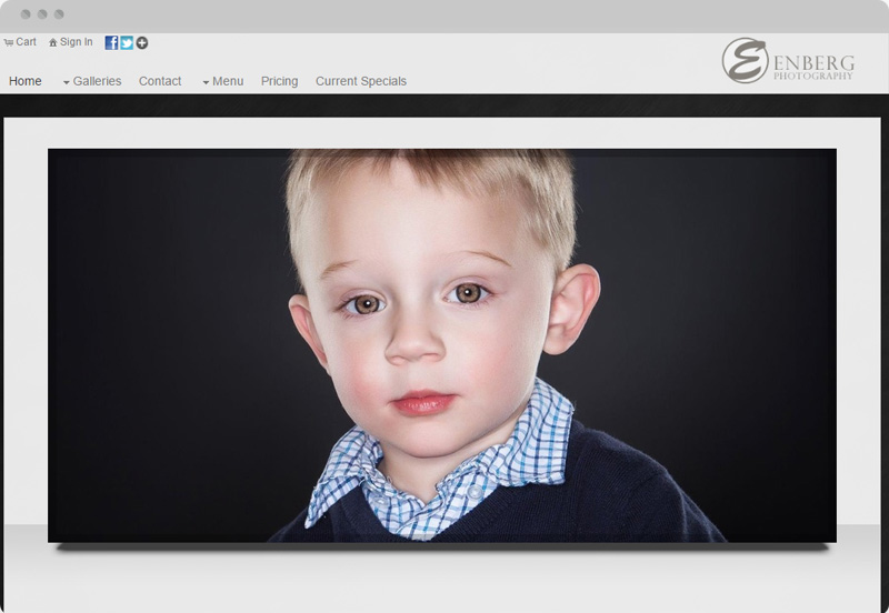 Redframe Photography Websites Client Example - Enberg Photography