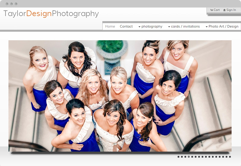 Redframe Photography Websites Client Example - Taylor Design Photography