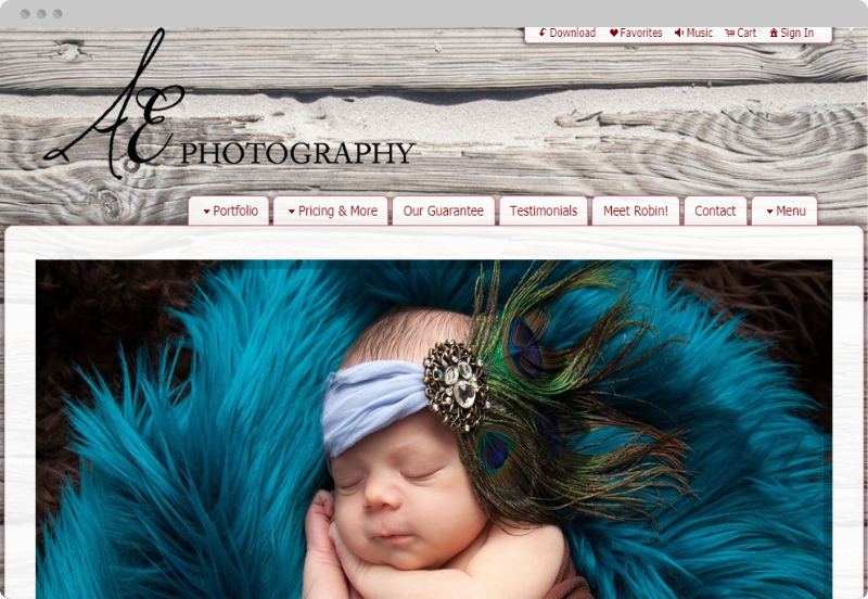 Redframe Photography Websites Client Example - AE Kansas City Photography