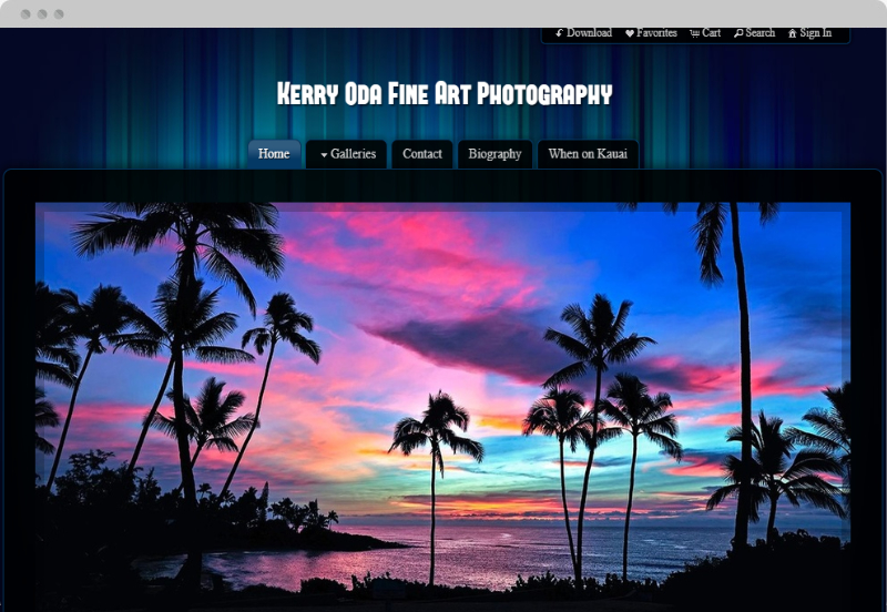 Redframe Photography Websites Client Example - Kerry Oda Fine Art