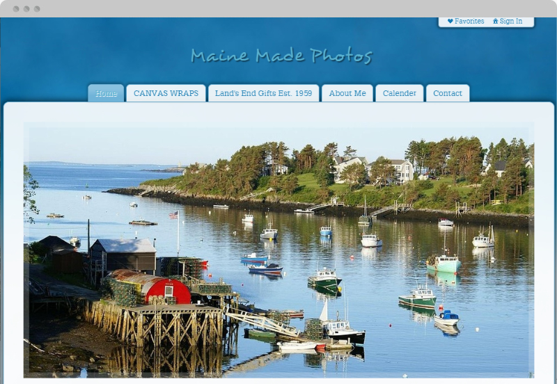 Redframe Photography Websites Client Example - Maine Made Photography