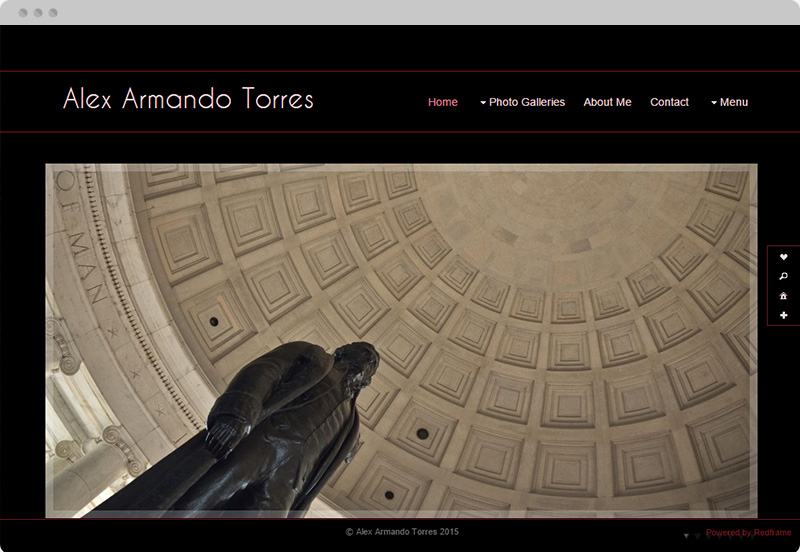 Redframe Photography Websites Client Example - Alex Torres Photography