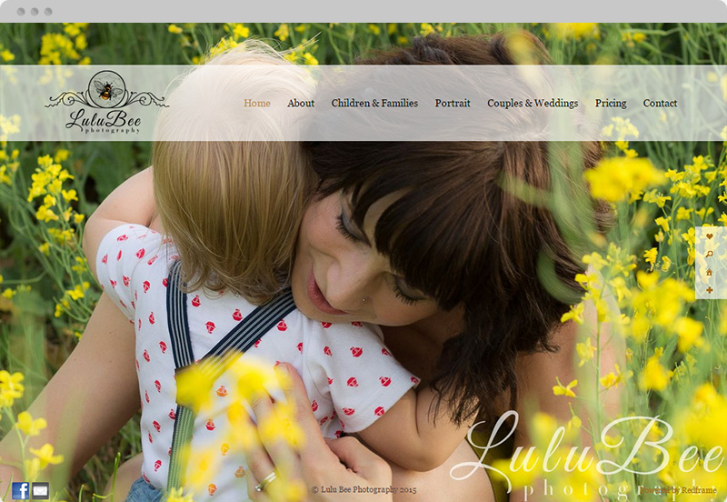 Redframe Photography Websites Client Example - LuluBee Photography