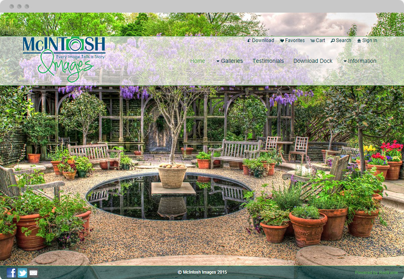 Redframe Photography Websites Client Example - McIntosh Images Photography