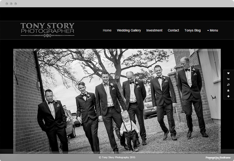 Redframe Photography Websites Client Example - Tony Story Photography
