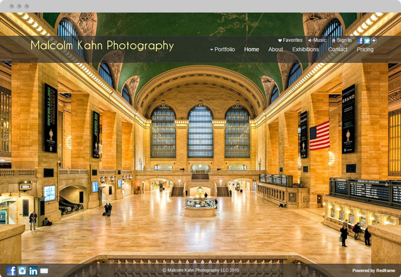 Redframe Photography Websites Client Example - Malcolm Kahn Photography