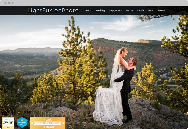 Redframe Photography Websites Client Example - Light Fusion Photo