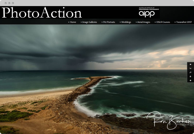 Redframe Photography Websites Client Example - Photoaction